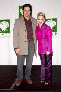Scott Cohen and Bette Midler at the New York Restoration Project Hulaween Gala.