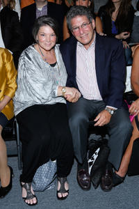 Mindy Cohn and guest at the Mark and Estel runway show during the Mercedes-Benz Fashion Week Spring 2014.