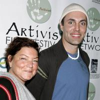 Mindy Cohn and James Haven at the Los Angeles premiere of