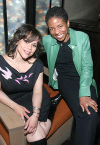 Rosie Perez and Lisa Gay Hamilton at the TAA Awards during the Tribeca Film Festival in New York City.
