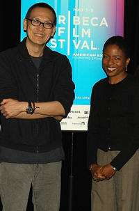 Director Wayne Wang and Lisa Gay Hamilton at the Diversifying American Cinema Panel during the Tribeca Film Festival in New York.
