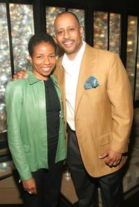 Lisa Gay Hamilton and Rubin Santiago Hudson at the TAA Awards during the Tribeca Film Festival.