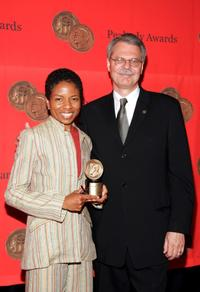 Lisa Gay Hamilton and Horace Newcomb at the 64th Annual Peabody Awards Luncheon.