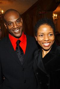 John Earl Jelks and Lisa Gay Hamilton at the opening of