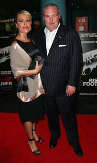 Frank Harper and Guest at the UK premiere of
