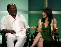 John Amos and Lauren Tom at the 2007 Summer Television Critics Association Press Tour.
