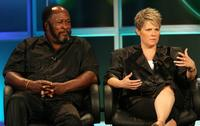 John Amos and Jenny Bicks at the 2007 Summer Television Critics Association Press Tour.