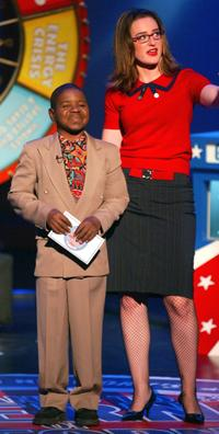 Gary Coleman and Kennedy at the Game Show Network's new show