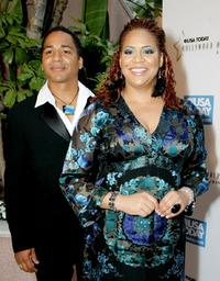 Scotch Ellis Loring and Kim Coles at the celebration honoring Geena Davis as this year's Hollywood Hero.