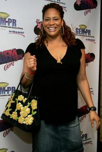Kim Coles at the GEM luxury gift lounge in celebration of the BET Awards.