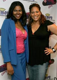 Toi Troutman and Kim Coles at the GEM luxury gift lounge in celebration of the BET Awards.