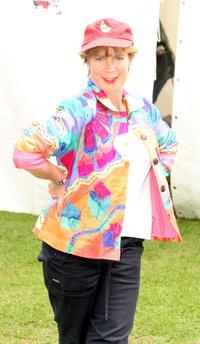 Celia Imrie at the Isle Of Wight Festival 2008.