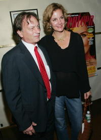 Margaret Colin and Guest at the 60th anniversary party.