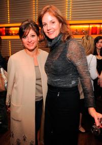 Maria Bartiromo and Margaret Colin at the screening of