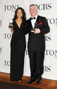 Karen Olivo and Gregory Jbara at the 63rd Annual Tony Awards in New York City.