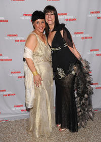 Sheila Johnson and Kay Unger at the 2011 Parsons Fashion Benefit Pier 60 in New York.
