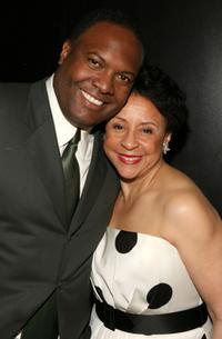 Rodney Peete and Sheila Johnson at the Billies presented by The Women's Sports Foundation.