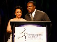 Sheila Johnson and Rodney Peete at the Billies presented by The Women's Sports Foundation.