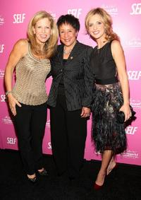 Luzy Danziger, Sheila Johnson and Sarah Michelle Gellar at the SELF Magazine's celebration for cover model and CARE ambassador Gellar.