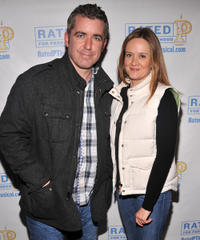 Jason Jones and Samantha Bee at the off Broadway opening night of