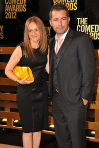 Samantha Bee and Jason Jonesa at the Comedy Awards 2012 in New York.