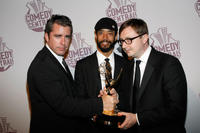 Jason Jones, Wyatt Cenac and John Hodgman at the Comedy Central's Primetime Emmy Awards Party.