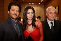 Anil Kapoor, Monica Bellucci and Bernard Fornas at the inauguration of the new Cartier Boutique.