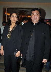 Neetu Singh and Rishi Kapoor at the Mijwan Welfare Society