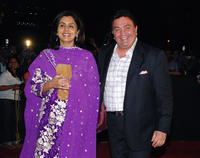 Rishi Kapoor and Neetu Singh Kapoor at the Awards ceremony in Mumbai.