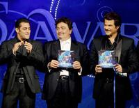 Salman Khan, Rishi Kapoor and Anil Kapoor at the music release of