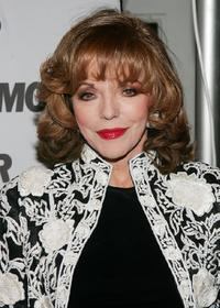 Joan Collins at the party for Glamour Magazine's first-ever Hero Issue.