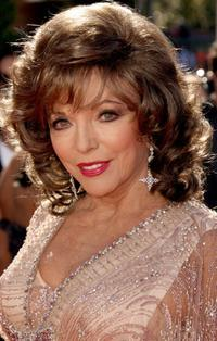 Joan Collins at the 58th Annual Primetime Emmy Awards.
