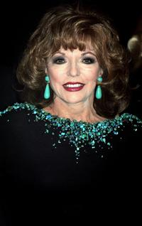 Joan Collins at the Museum of Modern Art reception.