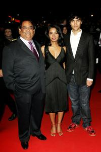 Satish Kaushik, Tannishtha Chatterjee and Christopher Simpson at the Times BFI 51st London Film Festival screening of