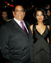 Satish Kaushik and Tannishtha Chatterjee at the Times BFI 51st London Film Festival screening of
