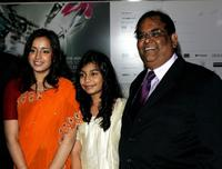 Naeema Begum, Lana Rahman and Satish Kaushik at the Times BFI 51st London Film Festival screening of