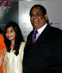 Lana Rahman and Satish Kaushik at the Times BFI 51st London Film Festival screening of
