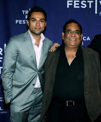 Abhay Deol and Satish Kaushik at the premiere of