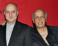 Anupam Kher and Mahesh Bhatt at the launch of