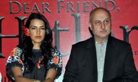 Neha Dhupia and Anupam Kher at the launch of