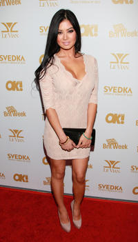 Kim Lee at the OK! Magazine and BritWeek Oscars party in California.
