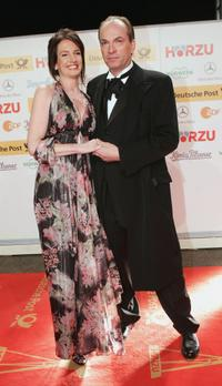 Herbert Knaup and Christiane Lehrmann at the Goldene Kamera Awards.