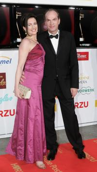 Herbert Knaup and Christiane Lehrmann at the 42nd Goldene Kamera Awards.