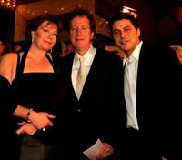 Geoffrey Rush, his wife and Vince Colosimo at the AFI Awards.