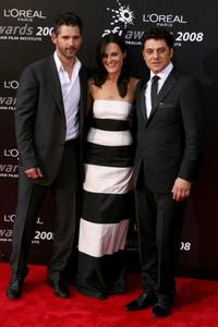 Eric Bana, Rebecca Gleeson and Vince Colosimo at the L'Oreal Paris 2008 AFI Awards.