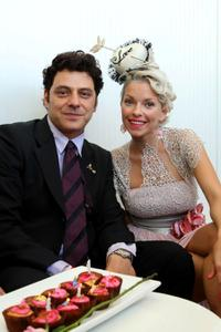 Vince Colosimo and Guest at the 2008 Melbourne Cup Carnival.