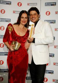 Monique Hendrickx and Vince Colosimo at the Inside Film (IF) Awards.