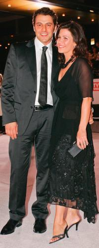 Vince Colosimo and wife Jane Hall at the 47th Annual TV Week Logie Awards.