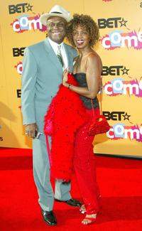 Michael Colyar and wife Brooks Jackson at the 2005 BET Comedy Icon Awards.
