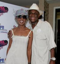 Michael Colyar and wife Brooks Colyar at the GEM luxury gift lounge in celebration of the BET Awards.
